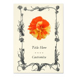 Orange and Yellow Rose 5x7 Paper Invitation Card