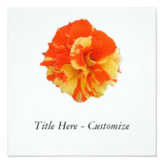 Orange and Yellow Rose Card