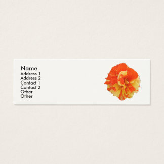Orange and Yellow Rose Mini Business Card