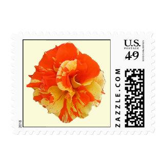 Orange and Yellow Rose Postage
