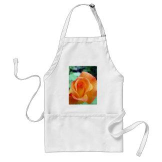 Orange and Yellow Rosebud Adult Apron