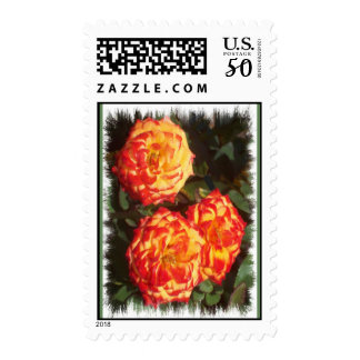 Orange and Yellow Roses Postage Stamps