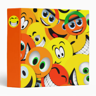 ORANGE AND YELLOW SMILEY FACES COLLAGE BINDER