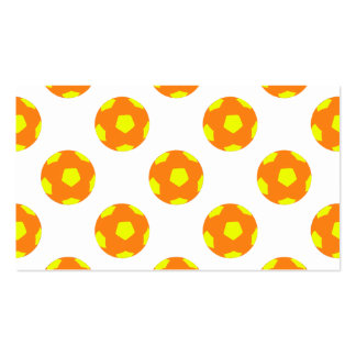 Orange and Yellow Soccer Ball Pattern Business Card