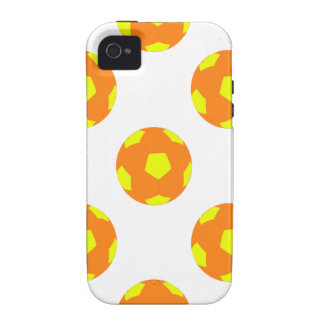Orange and Yellow Soccer Ball Pattern Case-Mate iPhone 4 Cover