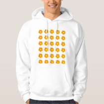 Orange and Yellow Soccer Ball Pattern Hoodie