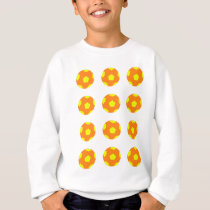 Orange and Yellow Soccer Ball Pattern Sweatshirt