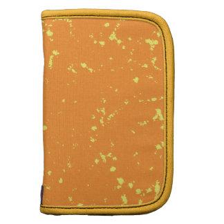 Orange and yellow specks folio planners