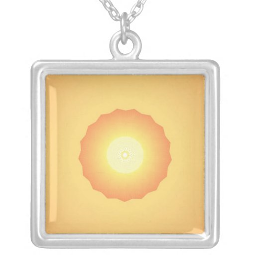 Orange and yellow sun necklace