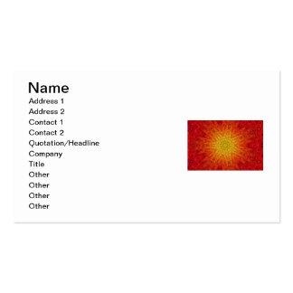 Orange and Yellow Sun/Star/Heart Mandala Business Cards