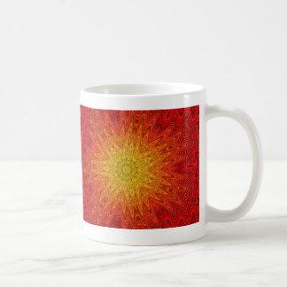 Orange and Yellow Sun/Star/Heart Mandala Coffee Mug