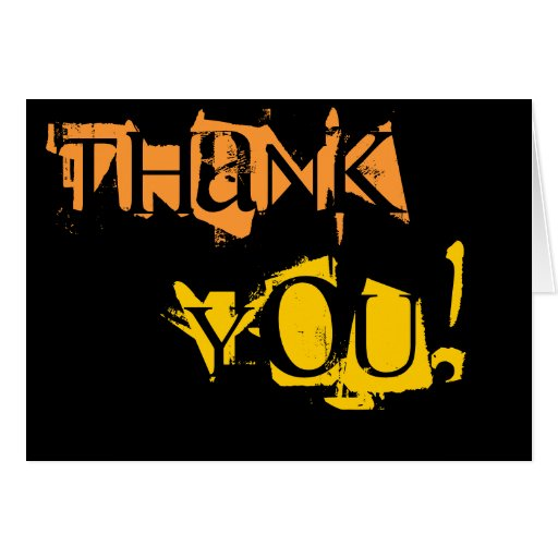 Orange And Yellow Thank You Card