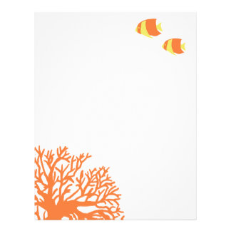 Orange and Yellow Tropical Angelfish Letterhead