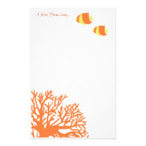 Orange and Yellow Tropical Angelfish Stationery