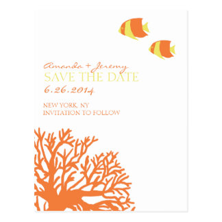 Orange and Yellow Tropical Fish  Save the Date Postcard