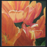 "Orange and Yellow Tulips Cloth Napkin<br><div class=""desc"">Pretty Orange and Yellow Tulips in a Bold design.  From my Acrylic painting.  Make a statement -  Elegant floral design looks great on everything.</div>"