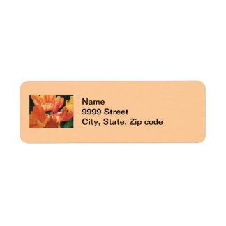 Orange and Yellow Tulips Return Address Labels