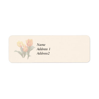 Orange and Yellow Tulips Save the Date Return Address Label