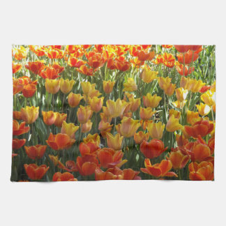 Orange and Yellow Tulips Towel