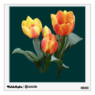 Orange and Yellow Tulips Wall Decor