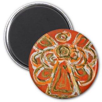 Orange Angel Art Custom Magnet Gifts