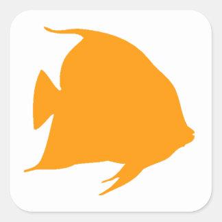 Orange Angel Fish Stickers