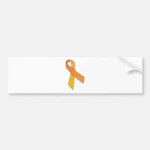 Orange Animal Guardian Awareness Ribbon Car Bumper Sticker