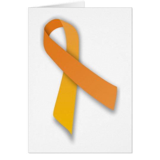 Orange Animal Guardian Awareness Ribbon Card