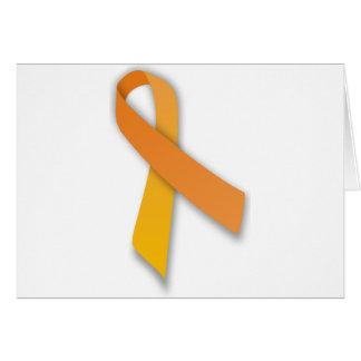 Orange Animal Guardian Awareness Ribbon Greeting Cards