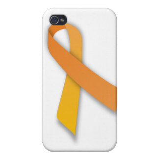 Orange Animal Guardian Awareness Ribbon Cover For iPhone 4