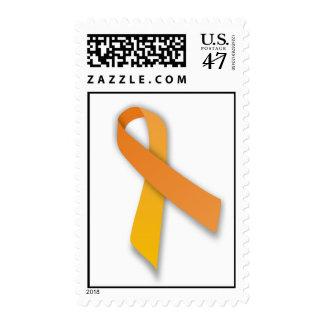 Orange Animal Guardian Awareness Ribbon Postage Stamp