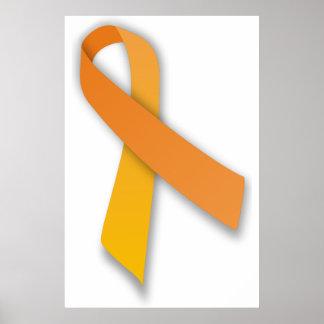 Orange Animal Guardian Awareness Ribbon Poster