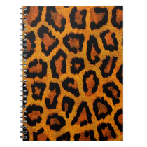 Orange animal print design spiral notebook