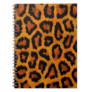 Orange animal print design spiral notebook