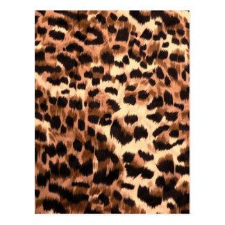 Orange animal skin print pattern postcard