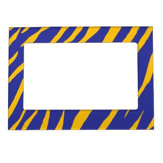 Orange Animal Stripes Magnetic Picture Frame