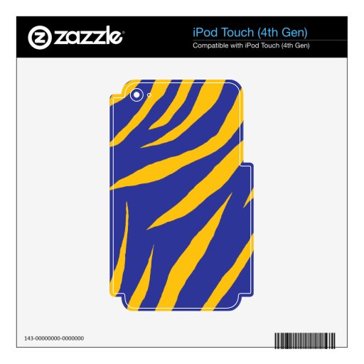 Orange Animal Stripes iPod Touch 4G Skin