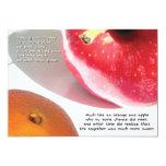 orange & apple | mini-print invite