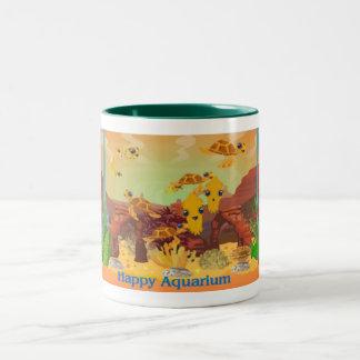 Orange Aquarium Mug