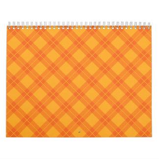 Orange Argyle Wall Calendars