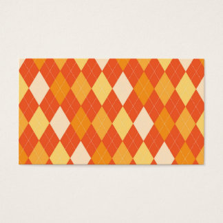 Orange argyle pattern business card