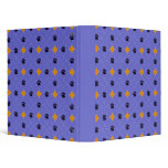 Orange Argyle Paw Prints 3 Ring Binder