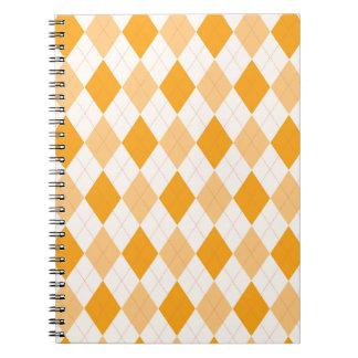 Orange Argyle Spiral Notebook