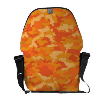 Orange Army Military Camo Camouflage Pattern Courier Bag