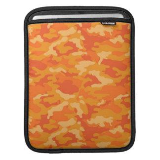 Orange Army Military Camo Camouflage Pattern iPad Sleeve