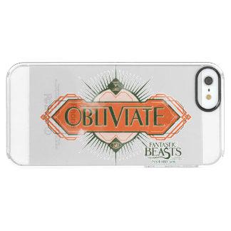 Orange Art Deco Obliviate Spell Graphic Clear iPhone SE/5/5s Case