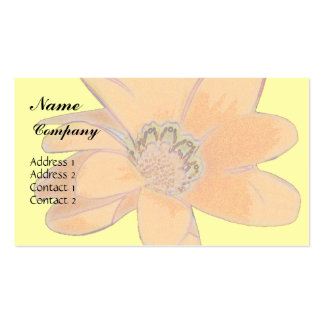 Orange Arty Flower Business Card