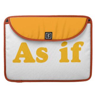Orange As If Sleeve For MacBooks