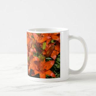 Orange Asiatic Lily 'Brunello' (Lilium) - Flowers Coffee Mug