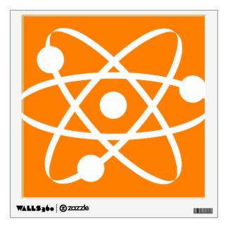 Orange Atom Wall Sticker